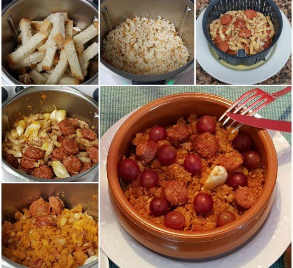 Rico y delicioso: Migas con chorizo y uvas