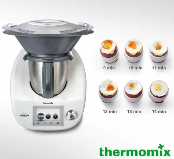 Huevos duros perfectos con Thermomix®